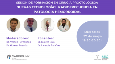 Radiofrecuencia en patología hemorroidal