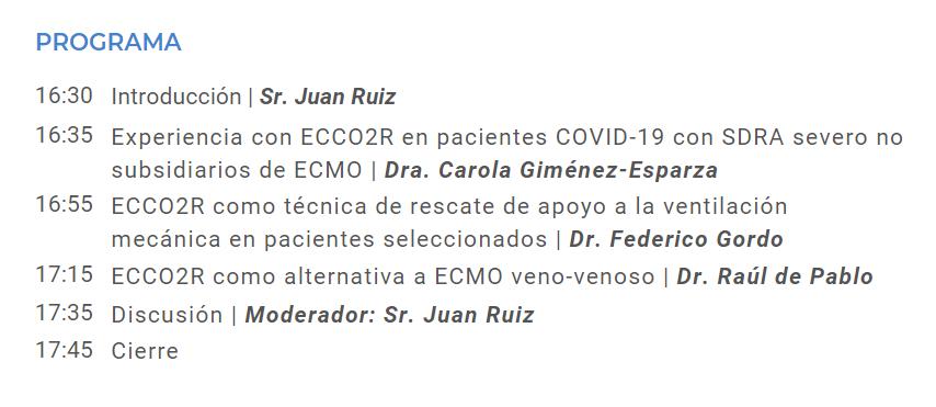 ECCO2R, Extracción extracorpórea de CO2 mínimamente invasiva